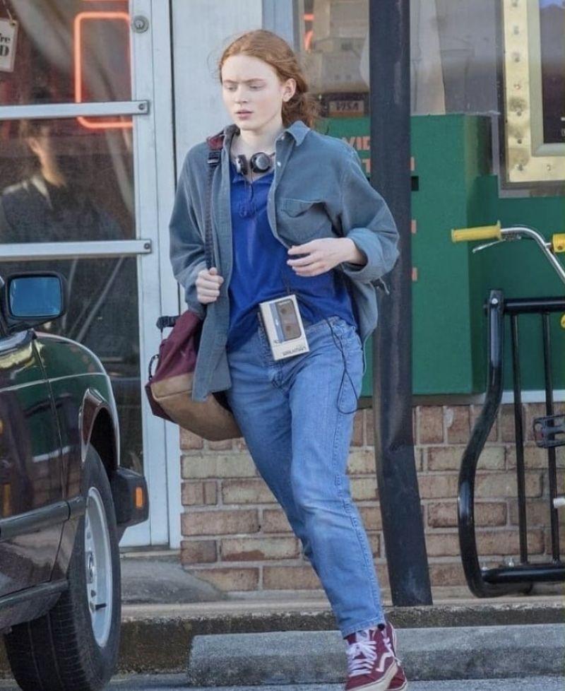Sadie Sink Films scenes for season 3 of the hit Netflix