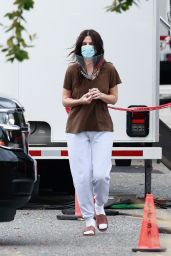 Sandra Bullock on the Set of Her Latest Movie Filming in Vancouver 10/08/2020