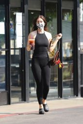 Scout Willis in Black Tights and Top at Coffee Bean in Los Feliz 10/17/2020