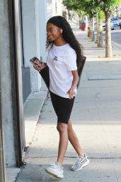 Skai Jackson - Arriving at the DWTS Studio in LA 09/30/2020