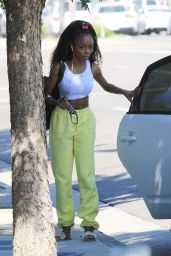 Skai Jackson - Heads Into DWTS Studio in Los Angeles 10/14/2020