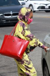 Skai Jackson in Tie-Dye Outfit - Leaves the DWTS Studio in LA 10/21/2020