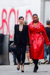 Sofia Carson and Megan Thee Stallion - Shooting for Revlon in NY 10/01/2020