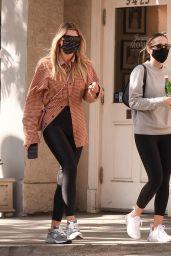Sofia Richie in a Plaid Shirt - Beverly Hills 10/28/2020