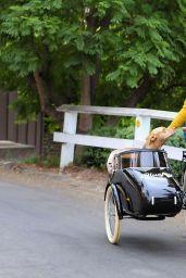 Sophia Bush - Driving Electric Bike in LA 10/27/2020