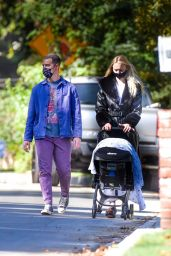 Sophie Turner and Joe Jonas - Stroll With Their Daughter in LA 10/26/2020