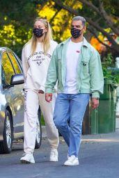 Sophie Turner and Joe Jonas Walk Around the Neighborhood in LA 10/27/2020