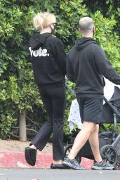 Sophie Turner and Joe Jonas Walking Their Daughter 10/21/2020