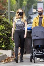 Sophie Turner - Out With Her Baby in LA 10/07/2020