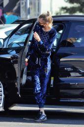 Stella Maxwell in a Gucci Velour Tracksuit - LA 10/27/2020