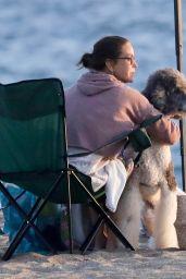 Teri Hatcher - Enjoying the Sunset at the Beach in Malibu 10/11/2020