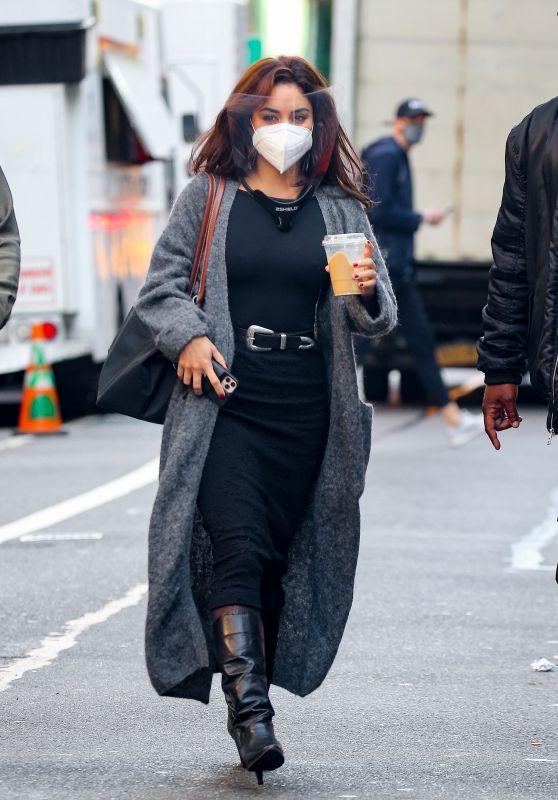 Vanessa Hudgens - Heads to East Village Set of Netflix