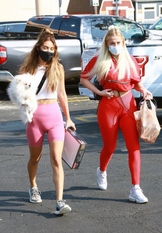 Violet Benson and Francesca Farago - Out in LA 10/17/2020