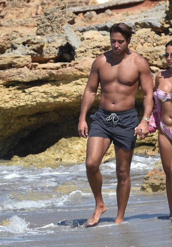 Yazmin Oukhellou and James Lock - Beach in Cyprus 10/24/2020