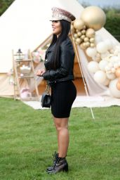 "Yazmin Oukhellou – ""The Only Way is Essex"" TV Show Filming at Chlochella Festival in Essex 10/06/2020"
