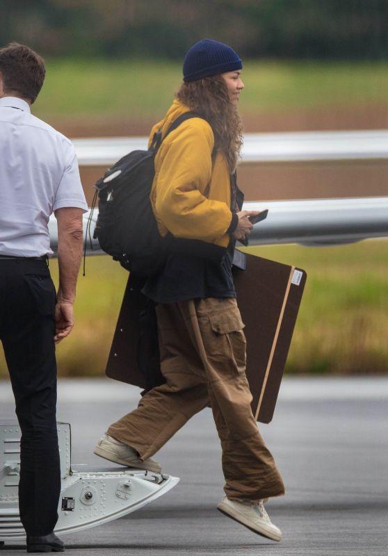 """Zendaya - Arriving in Atlanta to Shoot """"Spider-Man"""" 10/26/2020"""