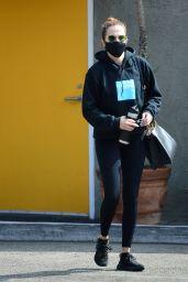 Zoey Deutch in Workout Gear - Leaving a Gym in LA 10/23/2020