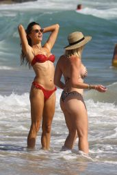 Alessandra Ambrosio in a Red Bikini 11/07/2020