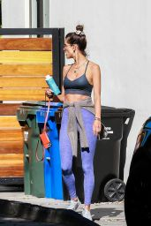 Alessandra Ambrosio in Workout Outfit in West Hollywood 11/11/2020