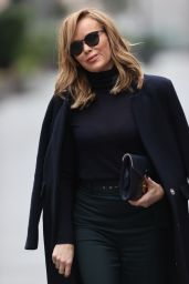 Amanda Holden in Black Sheer Top - London 11/16/2020