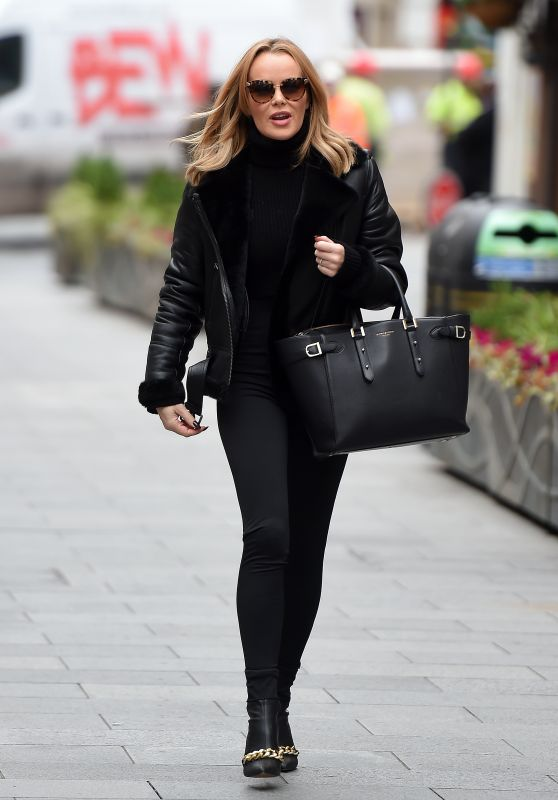 Amanda Holden - Leaving Global Studios in London 11/20/2020