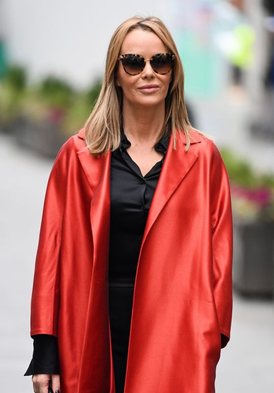 Amanda Holden Wearing Marina Rinaldi Duster Coat - London 11/30/2020