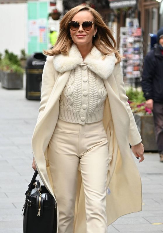 Amanda Holden Winter Chic Style – Arrives at Heart Radio in London 11/28/2020