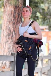 Amber Heard on a Hike in Pasadena 11/01/2020