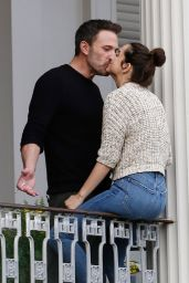 Ana De Armas and Ben Affleck on a Balcony in New Orleans 11/21/2020