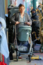 "Anna Paquin - ""Modern Love"" Filming Set at Healthy Cafe in Schenectady, NY 11/04/2020"