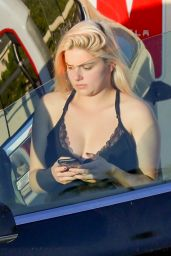 Ariel Winter at the Tesla Charging Station in Burbank 11/12/2020