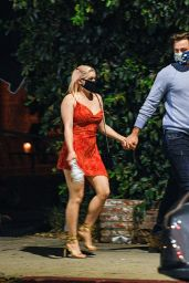 Ariel Winter in a Red Dress - Los Angeles 11/02/2020