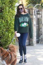 Aubrey Plaza - Walking Her Dogs in LA 11/21/2020