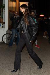 Bella Hadid in an All-Black Ensemble - NYC 11/19/2020