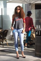 Blanca Blanco Street Style - Beverly Hills 11/17/2020