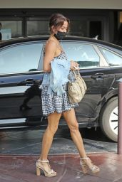Brooke Burke Leggy in Mini Dress - Beverly Hills 11/19/2020
