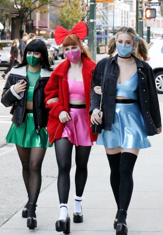 Camila Mendes, Lili Reinhart and Madelaine Petsch - Heading to Vanessa Morgan