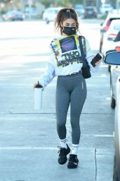 Chantel Jeffries in a Grey Leggings 11/19/2020