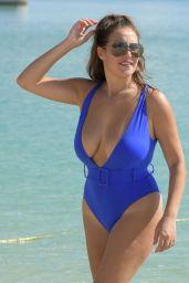 Chloe Goodman in a Blue Swimsuit in Dubai 11/22/2020