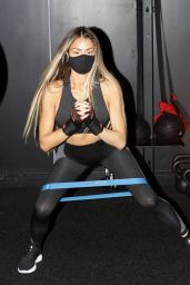 Chloe Sims at Boxgymfitness in Brentwood, Essex 10/29/2020
