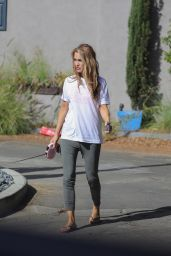 Chrishell Stause - Walking Her Dog in LA 11/08/2020