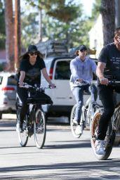 Christina Schwarzenegger - Morning Bike in Santa Monica 11/28/2020