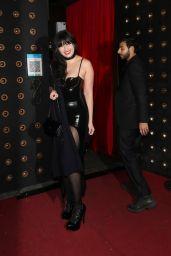 Daisy Lowe in a Black Latex Dress - All Star Cabaret Halloween Night in London 10/31/2020