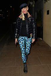 Denise van Outen - Leaving a Photoshoot in Mayfair 11/23/2020