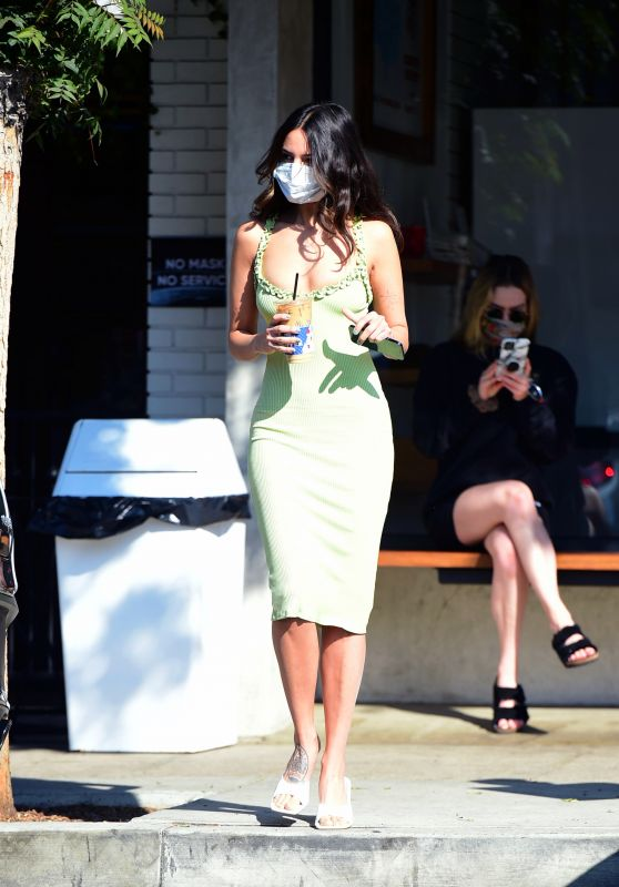 Eiza Gonzalez in a Lime Green Dress - Los Angeles 11/18/2020