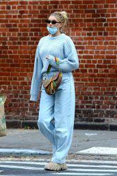 Elsa Hosk  in a Baby Blue Ensemble - New York 11/05/2020