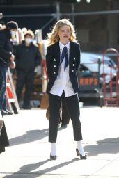 Emily Alyn Lind - Filming in NYC 11/24/2020