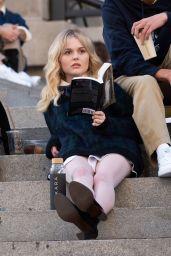 "Emily Alyn Lind, Savannah Smith, Jordan Alexander - ""Gossip Girl"" Set in NY 11/10/2020"