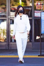 Emily Ratajkowski in a White Tracksuit - LA 11/29/2020