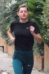 Emma Corrin - Jogging in London 11/16/2020